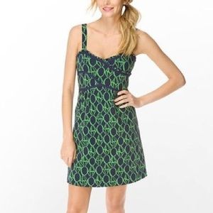 Lilly Pulitzer Dresses - Lilly Pulitzer navy and green Vanessa dress